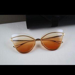 Dita Gold / Orange Nightbird Cat Eye Sunglasses